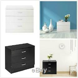 Nice 3 Tiroirs Commode Commodine Chambre Meubles Organisateur Finition Us