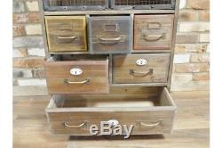 Quirky Grand Bois Multi Tiroirs / Chest Look Vintage / Stockage Rustique