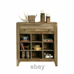 Rangement Accent Chest Cabinet Console Entry Hall Wood Rustic Farmhouse Furniture