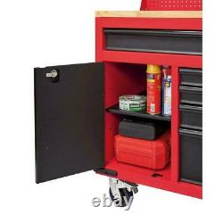Tool Chest Work Banc Cabinet Pegboard Top 61in Rolling Garage Rangement Milwaukee