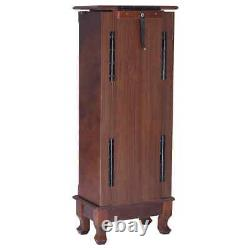 Topbuy Jewelry Cabinet Armoire Cambered Front Storage Chest Stand Organisateur